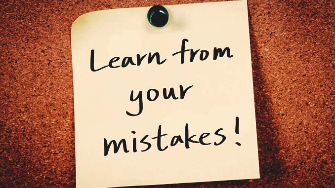 10 good lessons learned from mistakes